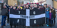 5 Nov 2017 - Truro City fans arriving at the Vally for the FA Cup game.