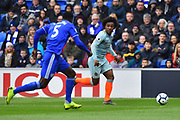 Willian (22) of Chelsea on the attack during the Premier League match between Cardiff City and Chelsea at the Cardiff City Stadium, Cardiff, Wales on 31 March 2019.