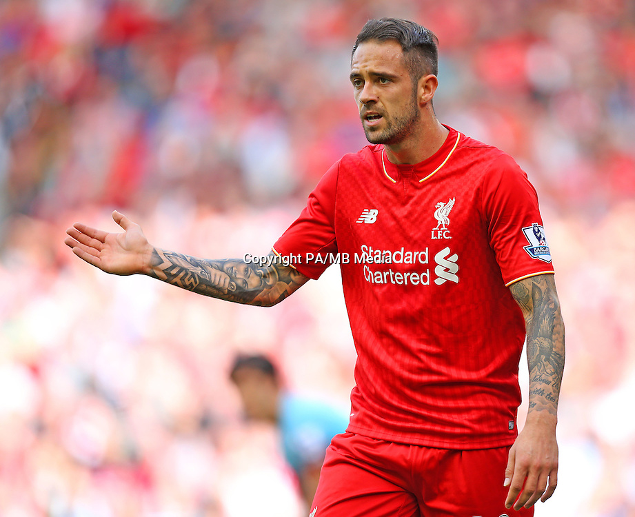 Liverpool's Danny Ings during the Barclays Premier League match at Anfield, Liverpool.