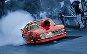 Chevy race car doing a burnout at the 2009 National Guard drag races at Memphis Motorsports Park.