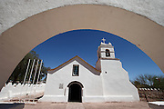The church in the small town of San Pedro de Atacama, in northern Chile