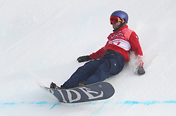 Great Britain's Billy Morgan takes a fall in one of his runs on his way to a bronze medal in the Men's Snowboarding Big Air Final at the Alpensia Ski Jumping Centre during day fifteen of the PyeongChang 2018 Winter Olympic Games in South Korea.