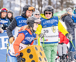 25.01.2020, Streif, Kitzbühel, AUT, FIS Weltcup Ski Alpin, im Rahmen der KitzCharityTrophy 2020 am Samstag, 25. Jänner 2020, auf der Streif in Kitzbühel. // f.l. Helene Berger Marco Büchel and Franz Klammer during the KitzCharityTrophy 2020 at the Streif in Kitzbühel, Austria on 2020/01/25, im Bild v.l. Helene Berger, Marco Büchel, Franz Klammer // f.l. Helene Berger Marco Büchel and Franz Klammer during the KitzCharityTrophy 2020 at the Streif in Kitzbühel, Austria on 2020/01/25. EXPA Pictures © 2020, PhotoCredit: EXPA/ Stefan Adelsberger