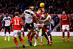 Nathan Baker of Bristol City heads the ball - Mandatory by-line: Robbie Stephenson/JMP - 19/01/2019 - FOOTBALL - The City Ground - Nottingham, England - Nottingham Forest v Bristol City - Sky Bet Championship