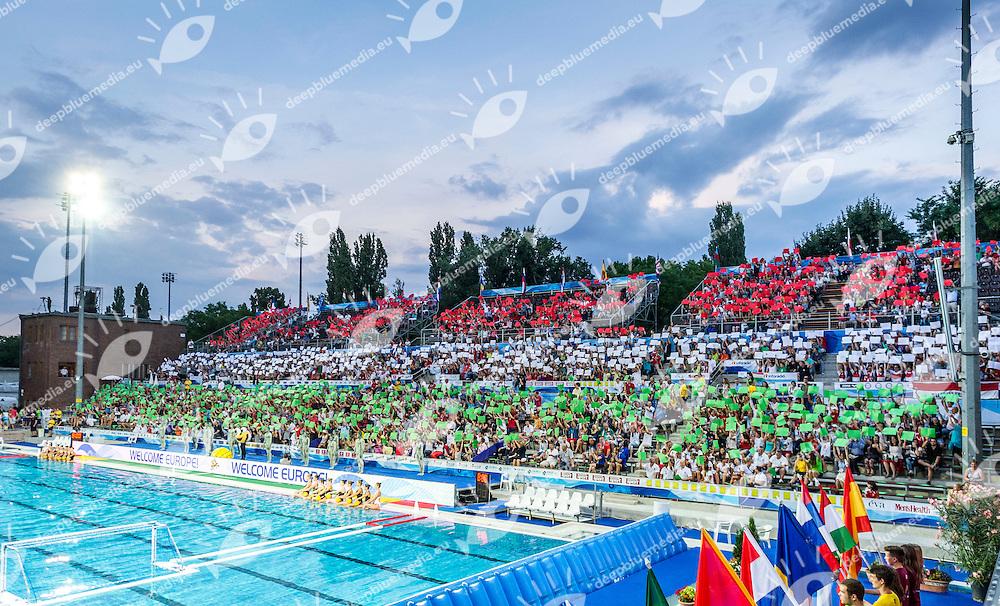 Opening Ceremony<br /> LEN European Water Polo Championships 2014<br /> Alfred Hajos -Tamas Szechy Swimming Complex<br /> Margitsziget - Margaret Island<br /> Day01 - July 14 <br /> Photo Giorgio Scala/Inside/Deepbluemedia