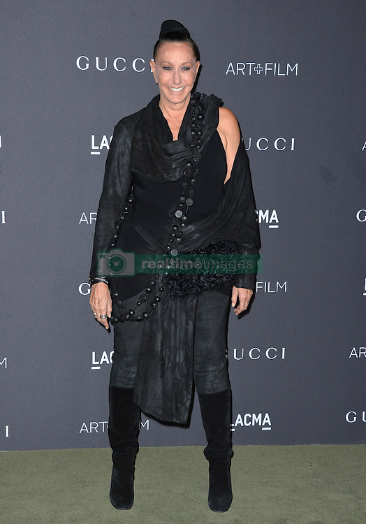 Donna Karan attends the 2016 LACMA Art + Film Gala honoring Robert Irwin and Kathryn Bigelow presented by Gucci at LACMA on October 29, 2016 in Los Angeles, California. Photo by Lionel Hahn/AbacaUsa.com