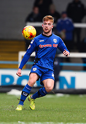 Rochdale's Callum Camps in action  - Photo mandatory by-line: Matt McNulty/JMP - Mobile: 07966 386802 - 17.01.2015 - SPORT - Football - Rochdale - Spotland Stadium - Rochdale v Crawley Town - Sky Bet League One