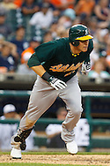 May 31, 2010: Oakland Athletics' Ryan Sweeney (21) during the MLB baseball game between the Oakland Athletics and Detroit Tigers at  Comerica Park in Detroit, Michigan. Oakland defeated Detroit 4-1.
