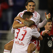 Tim Cahill, Red Bulls, celebrates a disallowed goal during the New York Red Bulls V D.C. United Major League Soccer, Eastern Conference Semi Final 2nd Leg match at Red Bull Arena, Harrison. New Jersey. USA. 8th November 2012. Photo Tim Clayton