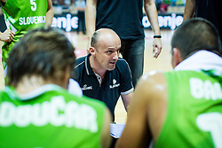 Head coach Jure Zdovc of Slovenia during friendly basketball match between National teams of Slovenia and Ukraineat day 1 of Adecco Cup 2015, on August 21 in Koper, Slovenia. Photo by Grega Valancic / Sportida