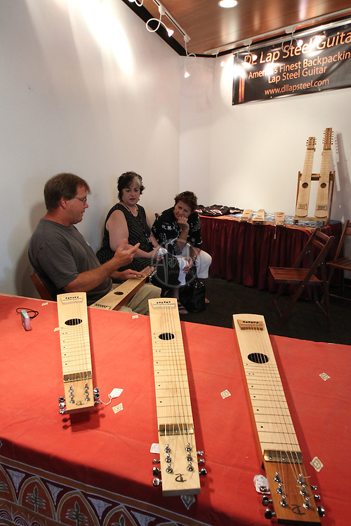 1st Annual Los Angeles Guitar Festival, July 2011.  DL Lap Steel Guitars vendor booth.