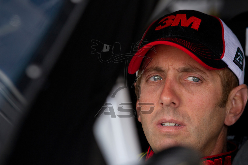 Kansas City, KS - APR 20, 2012:  Greg Biffle (16) before a practice session for the STP 400 race at the Kansas Speedway in Kansas City, KS.