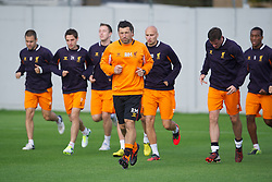 LIVERPOOL, ENGLAND - Wednesday, October 3, 2012: Liverpool's new fitness coach Ryland Morgans, who joined from Swansea City earlier in the week, takes a training session at Melwood Training Ground ahead of the UEFA Europa League Group A match against Udinese Calcio. (Pic by David Rawcliffe/Propaganda)