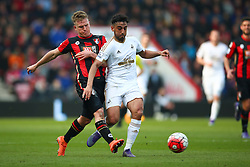 Matt Ritchie of Bournemouth tackles Neil Taylor of Swansea City - Mandatory by-line: Jason Brown/JMP - Mobile 07966 386802 12/03/2016 - SPORT - FOOTBALL - Bournemouth, Vitality Stadium - AFC Bournemouth v Swansea City - Barclays Premier League