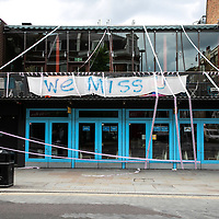 """London Theatres in shutdown;<br /> """"Missing Live Theatre"""" campaign;<br /> 14th July 2020.<br /> © Pete Jones / 07909 547336<br /> pete@pjproductions.co.uk"""