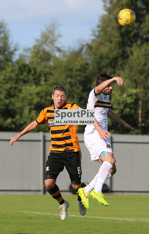 Steven Craig tries to get the ball during the Dumbarton FC v Alloa FC Scottish Championship 5th September 2015 <br /> <br /> (c) Andy Scott | SportPix.org.uk