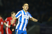 Brighton & Hove Albion winger Anthony Knockaert during the EFL Sky Bet Championship match between Brighton and Hove Albion and Cardiff City at the American Express Community Stadium, Brighton and Hove, England on 24 January 2017. Photo by Bennett Dean.