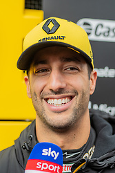 February 19, 2019 - Montmelo, BARCELONA, Spain - SPAIN, BARCELONA, 19 February 2019. Daniel Ricciardo driver of Renault  team during the second day of winter test at Circuit de Barcelona Catalunya. (Credit Image: © AFP7 via ZUMA Wire)