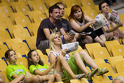 Spectators during friendly match between National teams of Slovenia and Latvia for Eurobasket 2013 on August 2, 2013 in Arena Zlatorog, Celje, Slovenia. (Photo by Vid Ponikvar / Sportida.com)