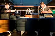 Matt White (left) and Calvin Wagner study on the top floor of O.U.'s new Baker Center on Thursday, 1/10/07.
