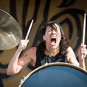 Matt and Kim perform @ Sliopanna Festival in Annapolis, MD on August 16, 2014.