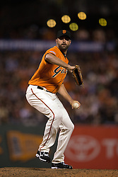 SAN FRANCISCO, CA - JUNE 12:  Jeremy Affeldt #41 of the San Francisco Giants pitches against the Arizona Diamondbacks during the ninth inning at AT&T Park on June 12, 2015 in San Francisco, California.  The Arizona Diamondbacks defeated the San Francisco Giants 1-0. (Photo by Jason O. Watson/Getty Images) *** Local Caption *** Jeremy Affeldt