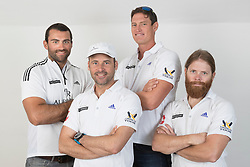 2nd July 2017. GKSS Match Cup Sweden, Marstrand, Sweden. ERIC MONNIN (Second Left) and his team,  ALBERT RIELE SWISS TEAM.