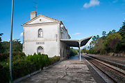The old train station in Obidos, Portugal