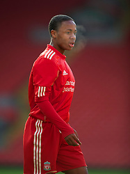 LIVERPOOL, ENGLAND - Saturday, January 8, 2011: Liverpool's Raheem Sterling in action against Crystal Palace during the FA Youth Cup 4th Round match at Anfield. (Pic by: David Rawcliffe/Propaganda)