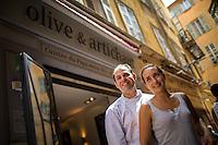 Thomas Hubert and Aurélie Marion of Olive & Artichaut.