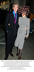 Milliner PHILIP TREACEY and ISABELLA BLOW, at a reception in London on 25th September 2003.PND 160