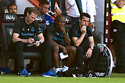 Everton manager Marco Silva looks dejected as he sits in the dugout as Bournemouth lead 3-1 during the Premier League match between Bournemouth and Everton at the Vitality Stadium, Bournemouth, England on 15 September 2019.