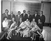 Group at Holmpatrick Hotel, Skerries..1961..30.10.1961..10.30.1961..30th October 1961...At the Holmpatrick hotel in Skerries,Co Dublin.Irish Shell Ltd held a dinner/dance for staff at which long service awards were presented. We do not have the caption sheet containing the names, if you know any of the people involved why not let us know at irishphotoarchive@gmail.com  and we will gladly add them.