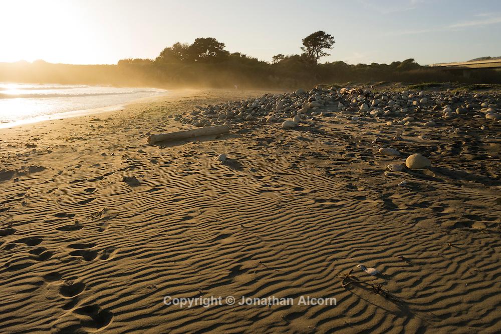 Beach scene near Cambria, California  on the Central California coast