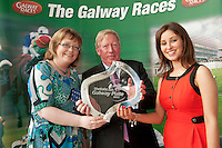 11/07/2012. .Annette Feerick, Galway Races with Galway Race Course Manager John Moloney  and Sandra Ginnelly, Galway Races at the 2012 Galway Races Summer Festival, official launch  in the g Hotel, Galway. The seven day festival runs from Monday 30th July to Sunday 5th August. Photo:Andrew Downes. (first use repro free).