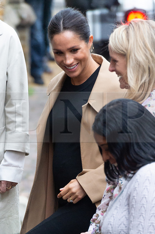 © Licensed to London News Pictures. 10/01/2019. London, UK. The Duchess of Sussex visits Smart Works, a charity which helps long term unemployed and vulnerable women regain the skills, confidence and tools to succeed at job interviews, return to employment and transform their lives. Photo credit: Ray Tang/LNP