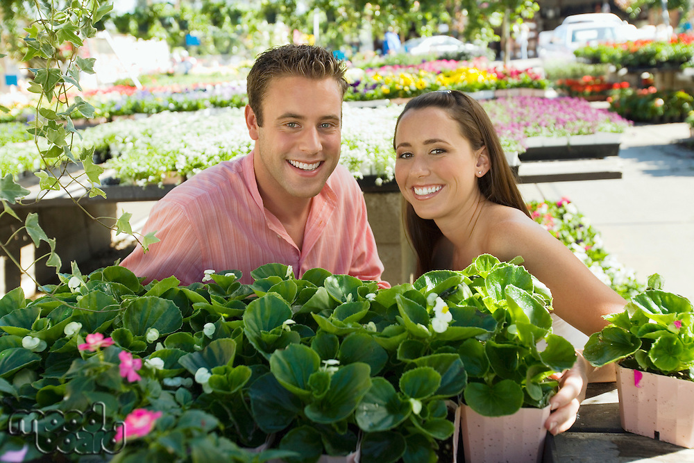 Happy Couple at Plant Nursery