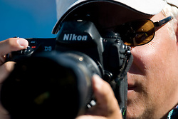 A photographer Mark Twinn of AP during the Men's  400m Individual Medley Heats during the 13th FINA World Championships Roma 2009, on August 2, 2009, at the Stadio del Nuoto,  in Foro Italico, Rome, Italy. (Photo by Vid Ponikvar / Sportida)