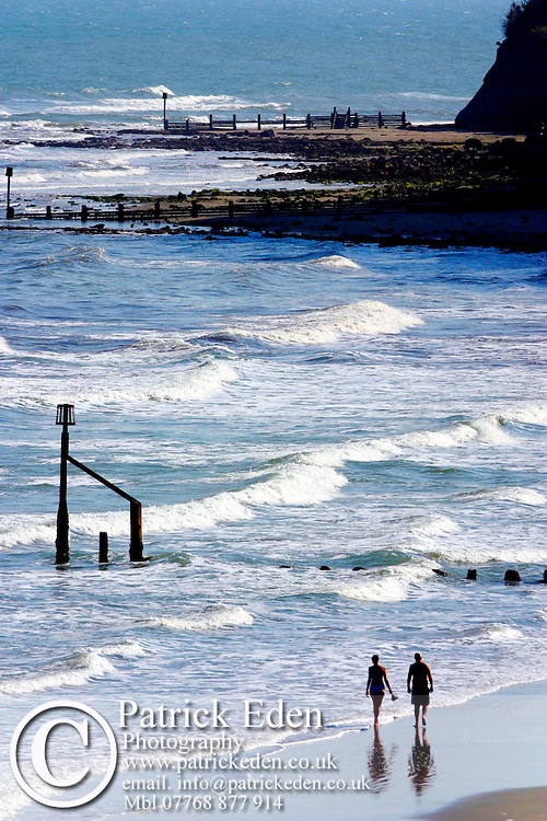 couple walking on beach, people on, beach Isle of Wight photography photograph canvas canvases