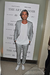 GEORGE LAMB at a party to launch PRPS's new luxury denim line called Noir whilst raising money for UNICEF Japan, held at Nobu Berkeley Street, London on 5th September 2011.