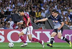 27.09.2011, Stade de Gerland, Lyon, FRA, UEFA CL, Gruppe D, Olympique Lyon (FRA) vs Dinamo Zagreb (CRO), im Bild Fatos Beqiraj (21), Dejan Lovren (5) // during the UEFA Champions League game, group D, Olympique Lyon (FRA) vs Dinamo Zagreb (CRO) at de Gerland stadium in Lyon, France on 2011/09/27. EXPA Pictures © 2011, PhotoCredit: EXPA/ nph/ Pixsell +++++ ATTENTION - OUT OF GERMANY/(GER), CROATIA/(CRO), BELGIAN/(BEL) +++++