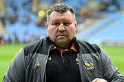 Wasps coach Dai Young during the Gallagher Premiership Rugby match between Wasps and London Irish at the Ricoh Arena, Coventry, England on 20 October 2019.