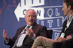 July 29, 2017 - Pasadena, California, United States - William Kristol (L) speaks during Politicon at the Pasadena Convention Center in Pasadena, California on July 29, 2017. Politicon is a bipartisan convention that mixes politics, comedy and entertainment. (Photo by: Ronen Tivony) (Credit Image: © Ronen Tivony/NurPhoto via ZUMA Press)
