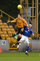 Photo: Leigh Quinnell.<br /> Wolverhampton Wanderers v Leicester City. Coca Cola Championship. 09/12/2006. Michael McIndoe collects the ball in the air for Wolves.