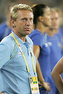 12 August 2008: Sweden head coach Thomas Dennerby (SWE).  The women's Olympic team of Sweden defeated the women's Olympic soccer team of Canada 2-1 at Beijing Workers' Stadium in Beijing, China in a Group E round-robin match in the Women's Olympic Football competition.