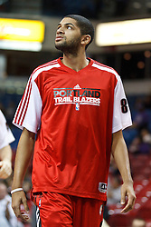 January 19, 2011; Sacramento, CA, USA;  Portland Trail Blazers small forward Nicolas Batum (88) warms up before the game against the Sacramento Kings at the ARCO Arena. Portland defeated Sacramento 94-90 in overtime.