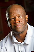 FAYETTEVILLE, AR - OCTOBER 5:   University of Arkansas Men's Head Basketball Coach Mike Anderson photographed in the Razorback basketball locker room on October 5, 2011 in Fayetteville, Arkansas.  (Photo by Wesley Hitt/Getty Images) *** Local Caption *** Mike Anderson
