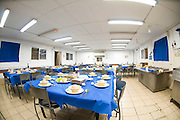 Israel, Army Base, Tables set for the traditional Passover Seder meal