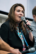 Kathy Hust from Scanalytics at the Wisconsin Entrepreneurship Conference at Venue 42 in Milwaukee, Wisconsin, Tuesday, June 4, 2019.