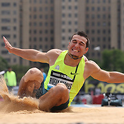 Luis Alberto Rivera Morales, Mexico, in action in the Men's Long Jump competition during the Diamond League Adidas Grand Prix at Icahn Stadium, Randall's Island, Manhattan, New York, USA. 14th June 2014. Photo Tim Clayton